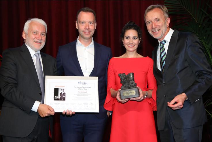 """Regina Baierl: Das Handelsblatt ist """"European Newspaper of the Year"""""""